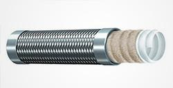 TYPE TCGS-Stainless Steel Braid Cover Convoluted PTFE Tube(glass fiber reinforced)