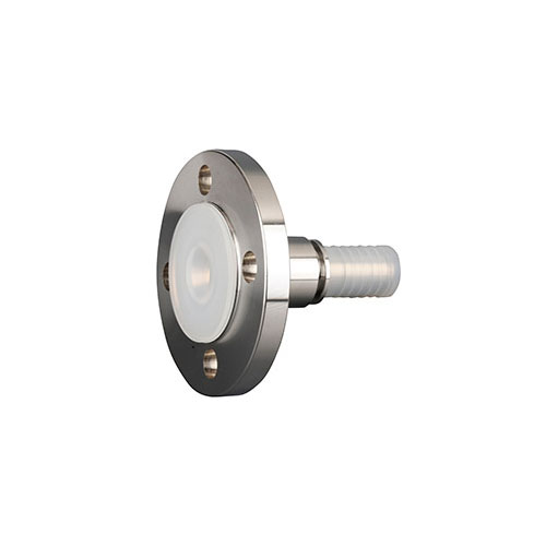 TYPE PLFLT - PFA lined fixed flange with toothed hose shank​