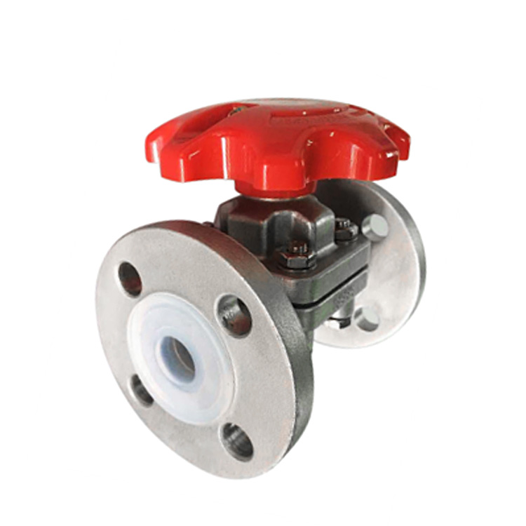 FEP or PFA Lined Diaphragm Valve