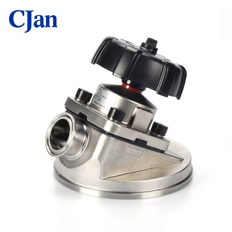 Stainless Steel Sanitary Tank Bottom Membrane Manual Diaphragm Valve