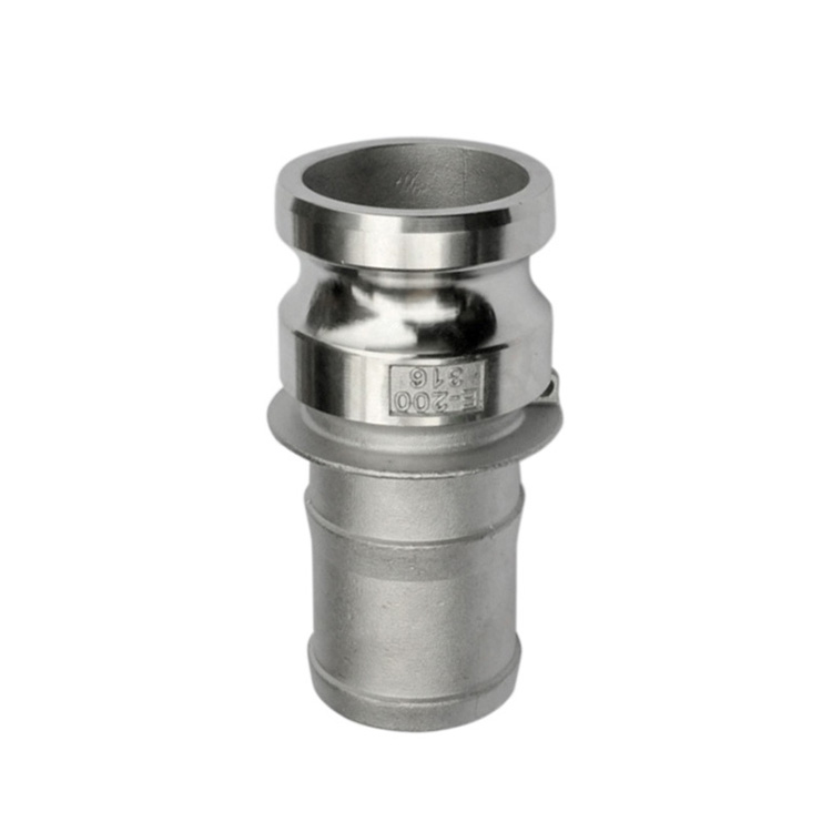 Camlock-E, Type E - Stainless steel quick coupling camlock for hose fitting